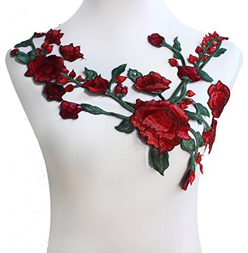 Embroidered Flower Applique - 3