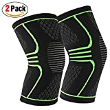 1 Pair (2 Piece) Joruby Compression Knee Brace Knee Sleeve Support for Sports, Running, Jogging, Basketball, Joint Pain Relief, Arthritis and Injury Recovery, Men and Women ( 2 Pack ) (Large)