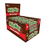 MILKY WAY 100 Calories Milk Chocolate Candy Bar 0.77-Ounce Bar 24-Count Box