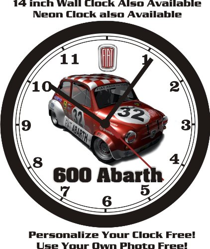 FIAT 600 ABARTH WALL CLOCK-FREE USA SHIP! for sale  Delivered anywhere in USA