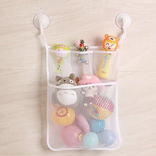 Bath Toy Organizer Baby Bathtub Storage Bathroom Mesh Net for Kids Toddler 51LFsaD1bML