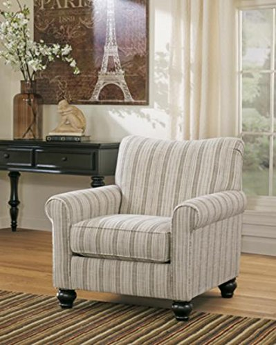 Ashley Furniture Signature Design - Milari Accent Chair - Classic Style Side Chair - Tight Back - Maple