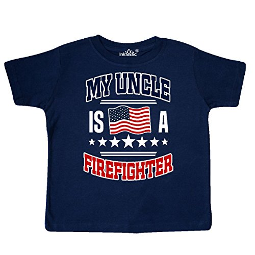 inktastic - My Uncle is A Firefighter Nephew Toddler T-Shirt 5/6 Navy Blue 30310