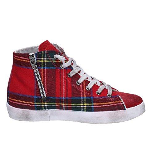 2 Tessuto Donna Star Sneakers Rosso Camoscio TqHzT4
