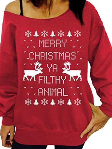 Choies Christmas Oversized Slouchy Sweatshirt