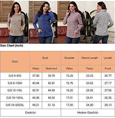 AlvaQ Women Quarter Zip Color Block Pullover Sweatshirt Tops with Pockets(S-XXL)