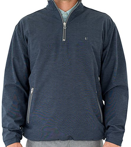 Linksoul Mens 1/2 Zip Pullover Navy L