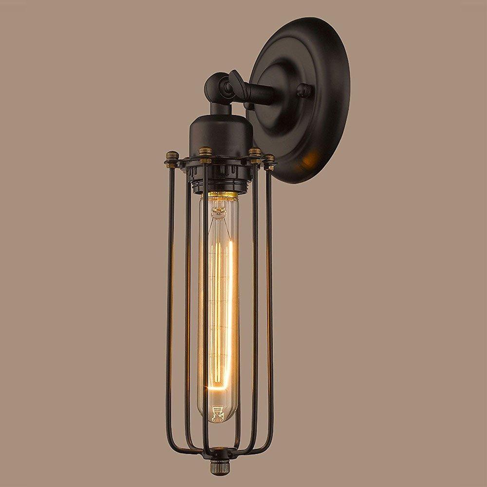 CLAXY Wandlampen Industrie Design Wandleuchten Draht Käfig E27 ...