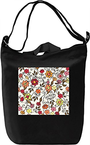 Flowers Texture Borsa Giornaliera Canvas Canvas Day Bag| 100% Premium Cotton Canvas| DTG Printing|