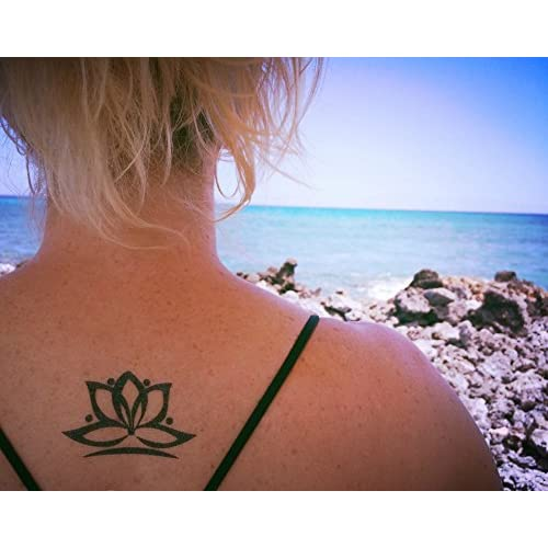 Pack Of 10 Temporary Yoga Tattoos 5 Designs Including A Lotus