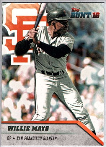 2016 Topps Bunt #105 Willie Mays Giants MLB Baseball Card NM-MT (Card Willie Mays)