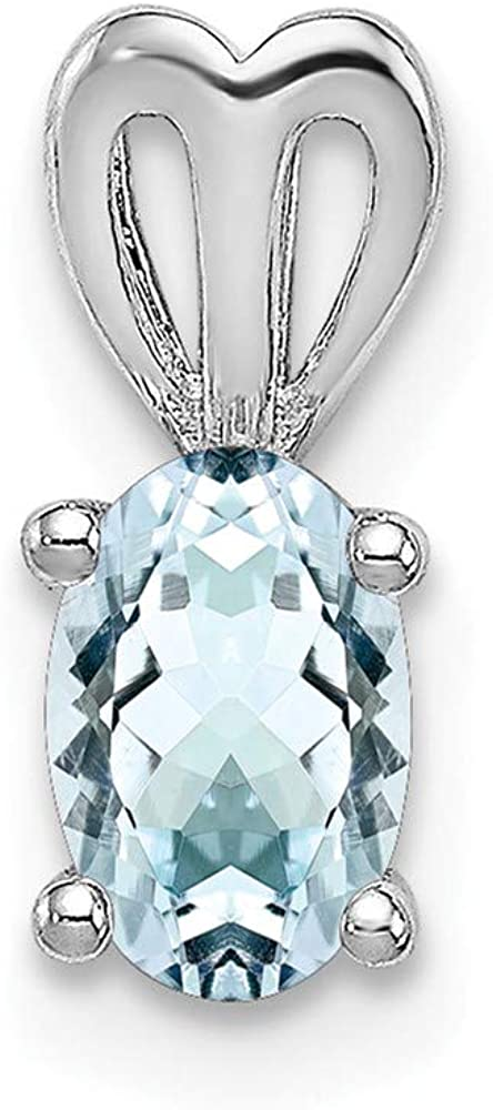 FB Jewels Sterling Silver Rhodium-plated White Topaz Pendant