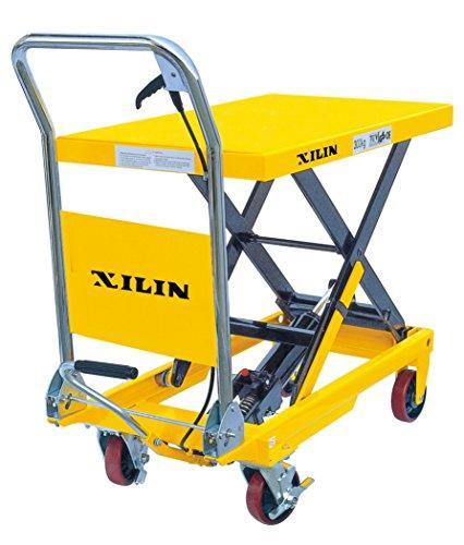 XILIN-XSP150-Hydraulic-Scissor-Lift-Table-Truck-330-lb-Capacity-Yellow