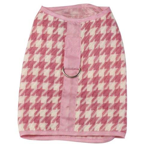 Z & Z Houndstooth Harness Vest Xxsm Pink/White