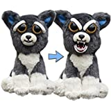 """Feisty Pets: Sammy Suckerpunch- Adorable 8.5"""" Plush Stuffed Dog That Turns Feisty With A Squeeze"""