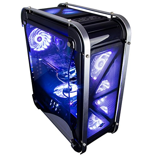 Price comparison product image CUK Switch 77 - Gamer Ready Desktop (Intel Pentium G4560, 12GB DDR4, 120GB SSD + 1TB HDD, NVIDIA GTX 1060 3GB, 450W PSU) Best Windows 10 Gaming Computer PC - Black with Customizable Fan Color
