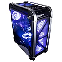 CUK Switch 77 - Gamer VR Ready Desktop (Intel Core i5-8400, 16GB RAM DDR4, 256GB Nytro SSD + 2TB HDD, NVIDIA GTX 1080 Ti 11GB, 600W PSU) Best Windows 10 Gaming Computer PC - Black