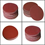 SHINA 50pcs 7'' 120 GRIT Sanding Discs Hook Loop Backed Aluminum Oxide Sandpaper