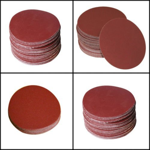 SHINA 50pcs 7 80 GRIT Sanding Discs Hook Loop Backed Aluminum Oxide Sandpaper SDisc-7inch-80x50pc-US