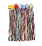 Luau (Pack Of 3) Multi-Color Child's Hula Party Skirts - Floral Waistbands