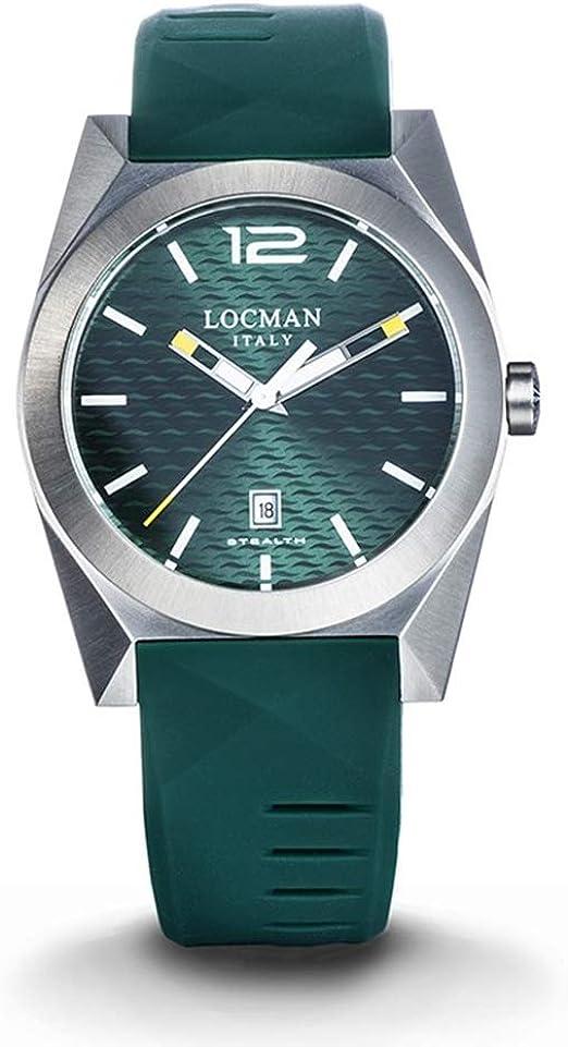 Orologio uomo stealth acciaio e titanio verde locman 0810A03S-00GRWHSG