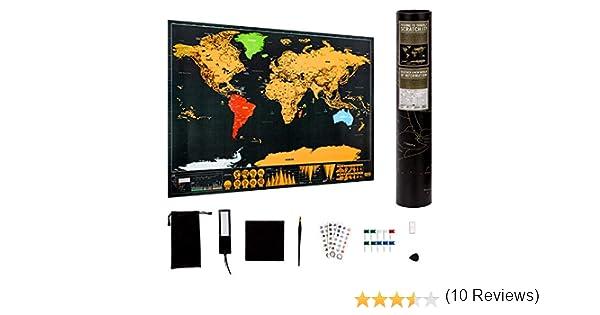LUTER mapa mundi rascar mapamundi poster mapa mundo scratch map ...