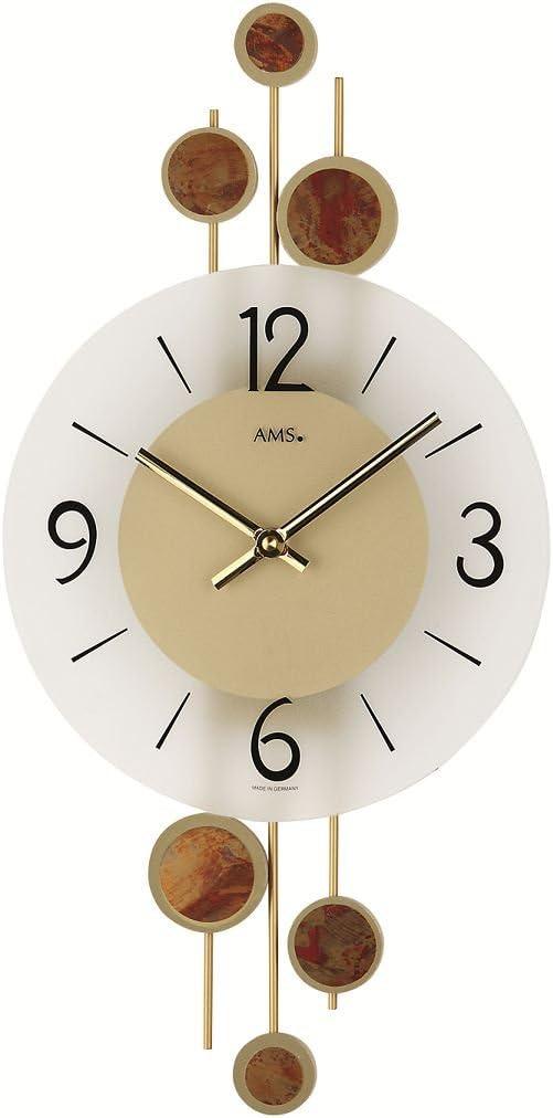 Horloge murale moderne avec mouvement /à quartz aMS 9389 fonctionne sur piles