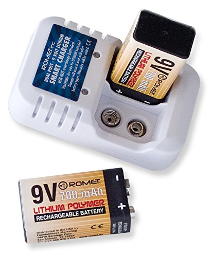 Romet 9 Volt Lithium Battery and Charger Set