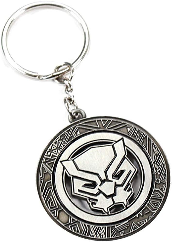 Porte-cl/és en m/étal avec logo Marvel Comics Black Panther
