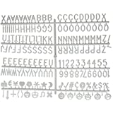 """340 White Letters for Changeable Felt Letter Boards 3/4"""", Numbers & Symbols Includes @ ! $ Emoji"""