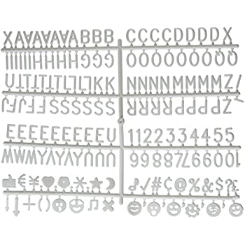 Amazon Letter Board Letter Set 344 Piece White Letters