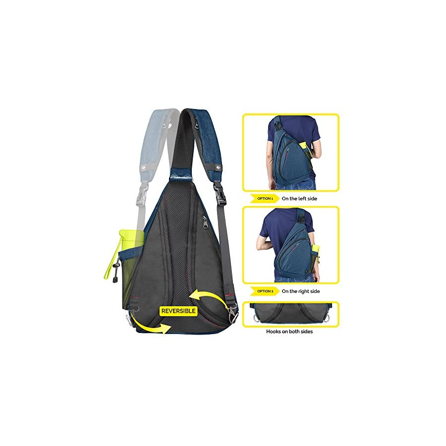 OutdoorMaster Sling Bag Crossbody Backpack for Women & Men