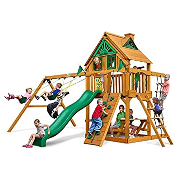 Gorilla Playsets Modern Chateau Treehouse Swing Set with Amber Posts