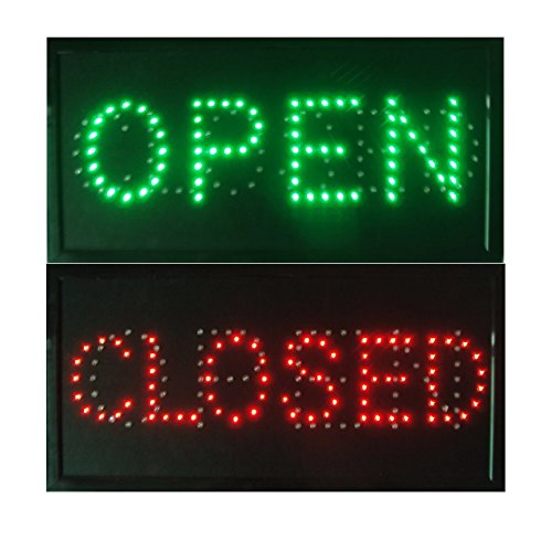 CHENXI Open & Closed 2 in 1 LED Sign Store Neon Business Bar Shop closed Light On/Off Switch 48 X 25 CM (48 X 25 CM, open&closed) (Closed Neon Sign)