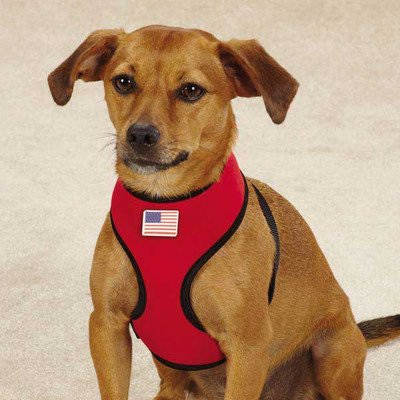 Casual Canine Neoprene Dog Harness, Medium, True Red