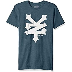 Zoo York Men's Short Sleeve Cracker T-Shirt, True Navy Heather, Large