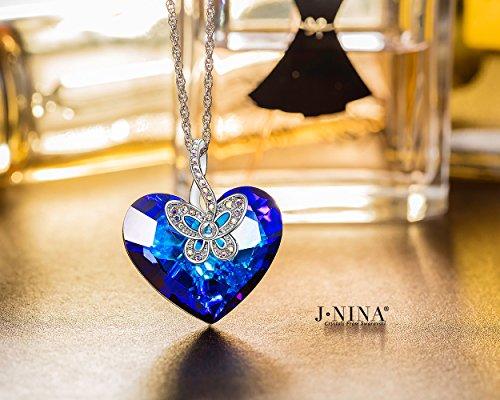 """J NINA """"Amor de La Mariposa"""" Collar Mujeres Cristalino las del fabricados con cristales SWAROVSKI®. Es el Regalo Perfecto para Alguien Que te Importa. Es atemporal y especial"""