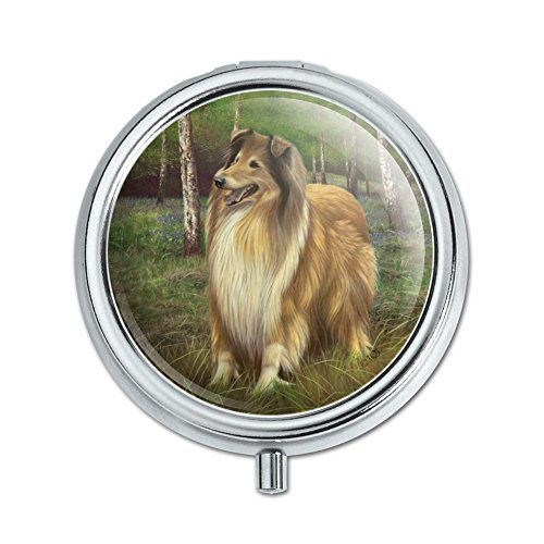 Collie Dog in the Woods Pill Case Trinket Gift Box