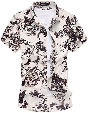 メンズ ポロシャツ 和柄 半袖 花柄 カジュアル シャツ ゴルフ ウェア 輝いている青い花