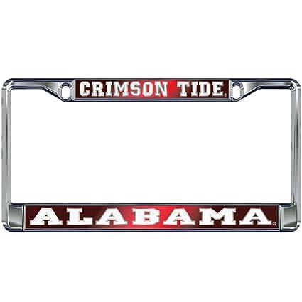 Amazon.com: Alabama Crimson Tide Domed Metal License Plate Frame ...