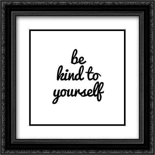 Quotable VIII 20x20 Black Ornate Frame and Double Matted Art Print by Hambly, ()
