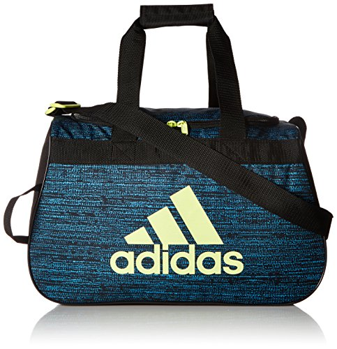 adidas Women's Diablo small duffel Bag, Bright Cyan Subdued/Black/Frozen Yellow, One (Bright Side Bag)