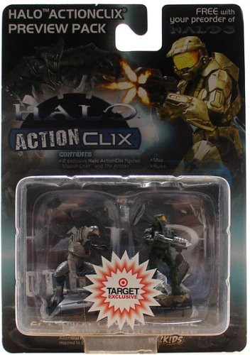 Halo ActionClix Master Chief & Arbiter Figure Preview Pack