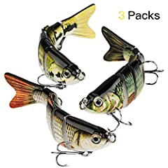 Extreme Lifelike Multi Joint Fishing Lures - 3D eyes makes the bait more similar to real fish. - Bass lure enhances the power of luring predators . - Designed with 2 super sharp treble hooks, this fishing bait set features durability and flex...