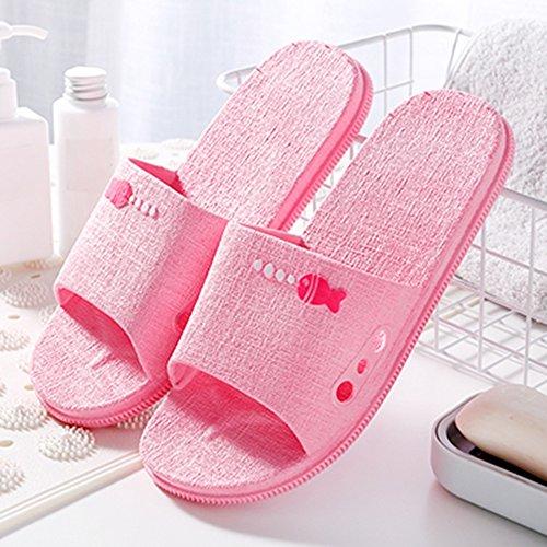 Dedo Color De Punta Rosa Con Antideslizante Burbujas De 44 Sandalia Para Azure 45 TINGTING Respiración Tapa Tamaño Pez Zapatillas Levantada Pequeño Chancletas ta8xww