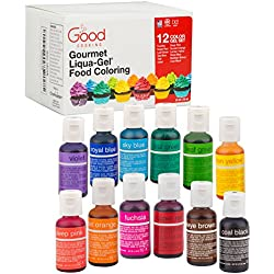 Food Coloring Liqua-Gel - 12 Color Variety Kit in .75 fl. oz. (20ml) Bottles