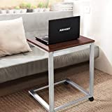 TANGKULA Snack Table Home Simple Modern Design Sofa Couch Side Table End Table Laptop Notebook Stand Over Bed TV Snack Rolling C Table (1 x snack table)