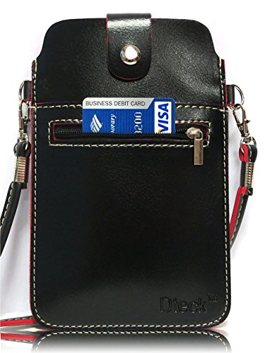 Cell Phone Bag, Dteck Crossbody PU Leather Mini Phone Pouch with Detachable Shoulder Strap for iPhone X, 8 / 7/ 6s Plus , 8/7/6s/5s, Samsung S8 / 7/ 6 Edge, J3/7 and Other 5.5 inch Smartphones (Black)