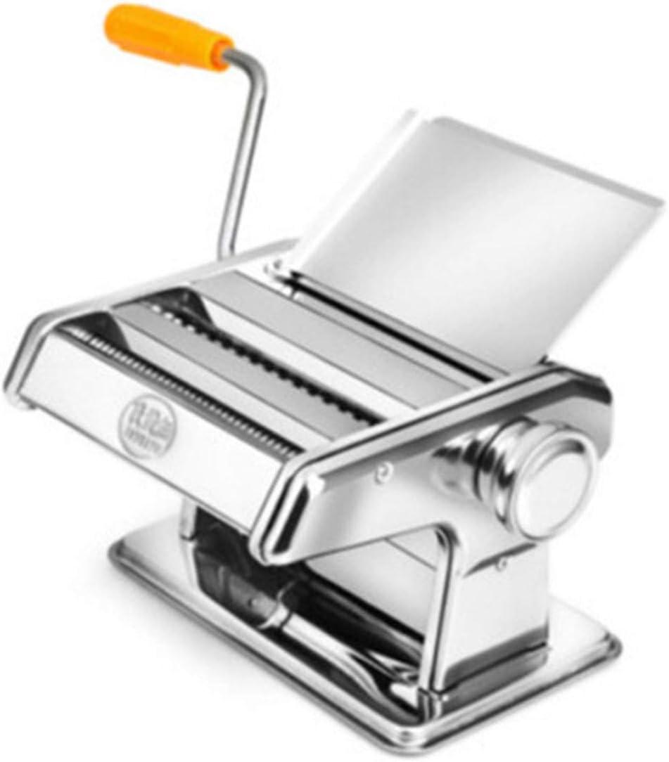 Máquina de pasta manual, máquina de cortar pasta manual de acero inoxidable para hacer pasta italiana de ancho fideos Ravioli máquina de pasta fresca para el hogar y la cocina