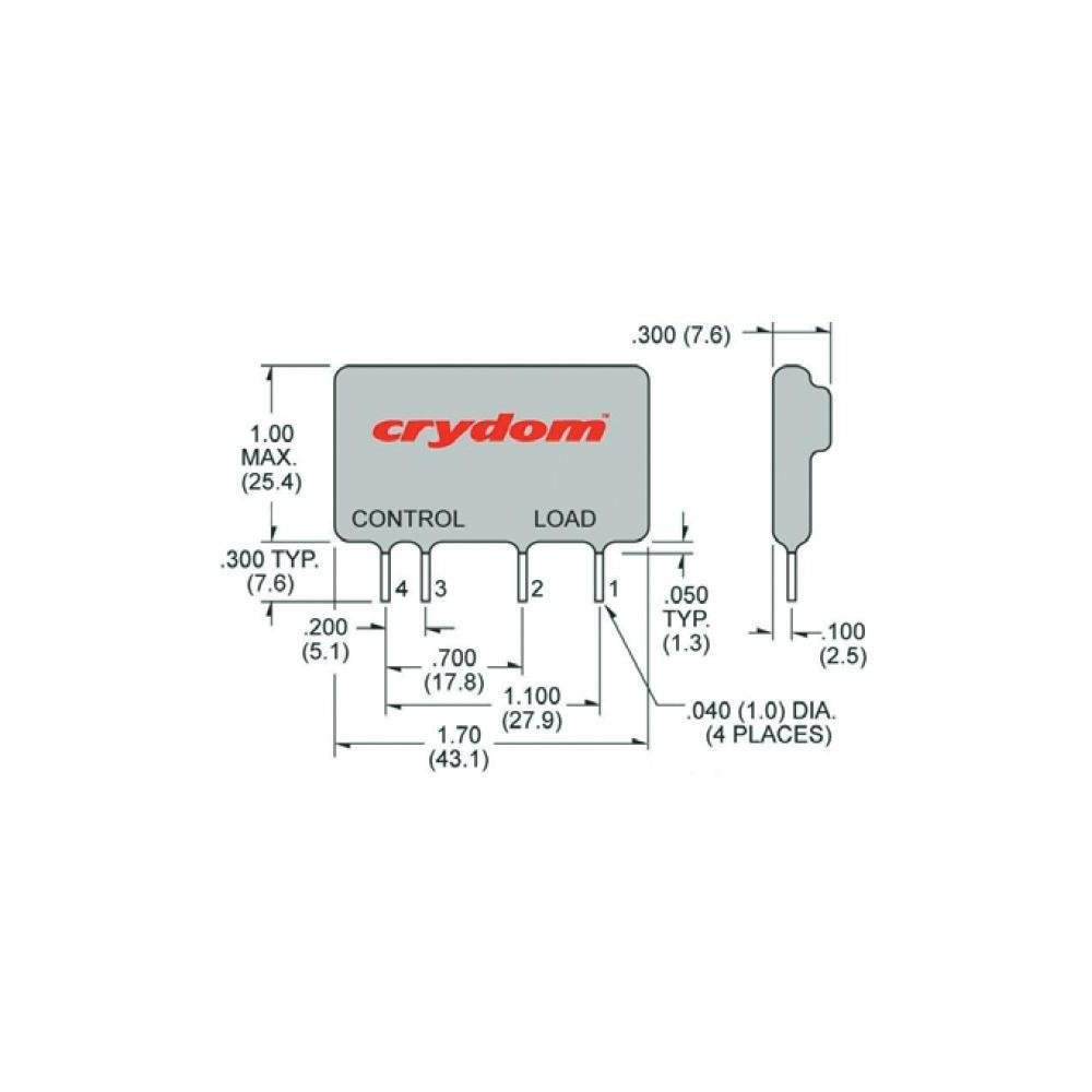 Crydom Cmx60d10 Cmx Series 10 A 60 V Dc Control Solid State Relay Ssr Wiring Diagram Pcb Mount Sip 4 1 Items